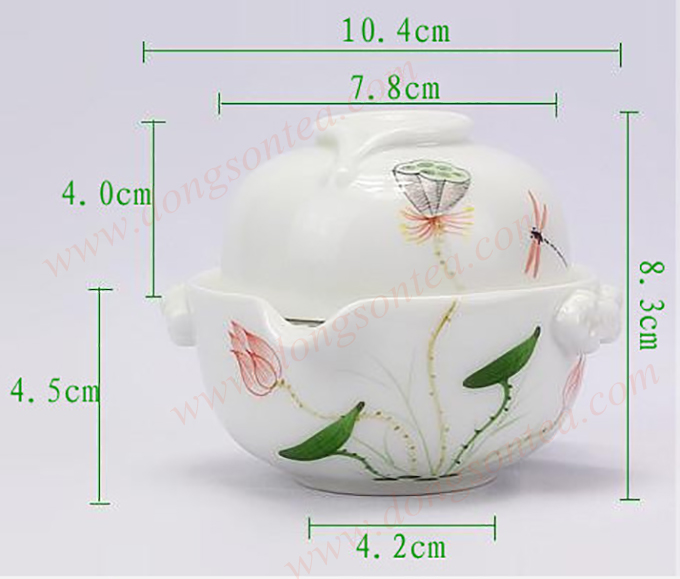 Ấm trà sứ độc ẩm hoa sen hồng